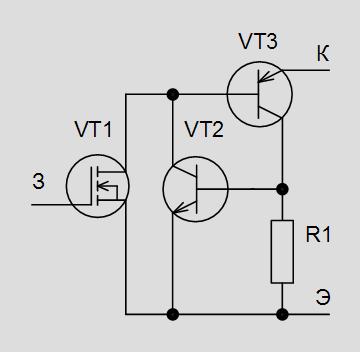 транзистора возникает ещё
